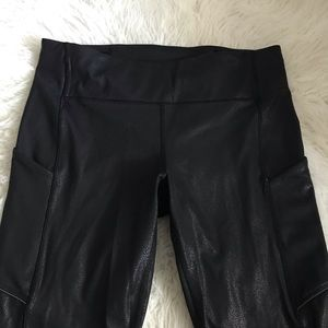 Lululemon Speed Tight Luminosity Foil Black
